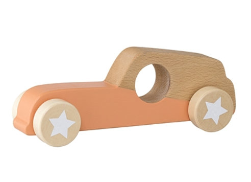 Bloomingville Beech Toy Car Orange