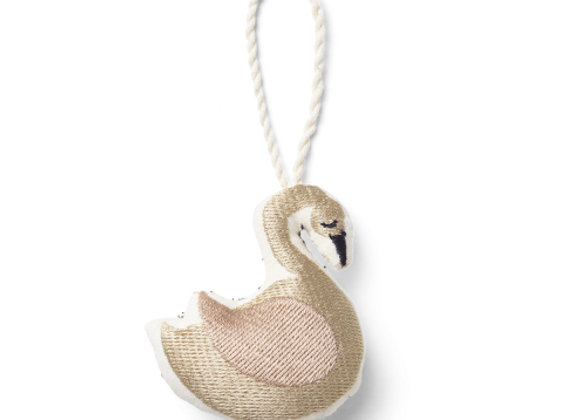 Ferm Living Swan Embroidered Ornament