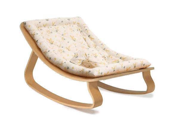 Charlie Crane Rocker Levo in Beech with Garbo & Friends Mimosa cushion