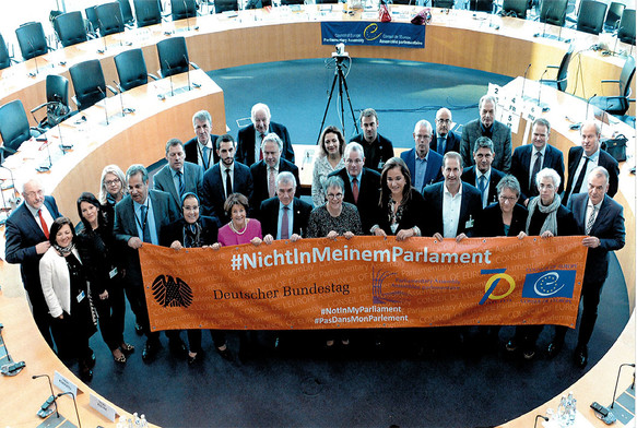 Συνάντηση της Επιτροπής Πολιτικών Υποθέσεων, υπό την προεδρία της Ria Oomen-Ruijten, στο Βερολίνο (Γερμανία), με τη συμμετοχή της Προέδρου της Ολομέλειας Liliane Maury Pasquier, το Νοέμβριο του 2019.