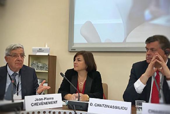 Συνάντηση της Επιτροπής Πολιτικών Υποθέσεων, υπό την προεδρία του Mogens Jensen, στο Παρίσι (Γαλλία) το Νοέμβριο του 2017.