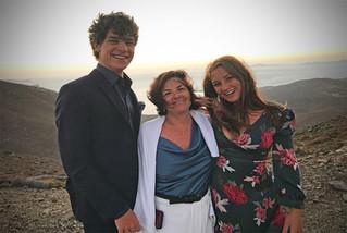 Avec mes enfants Charles et Ilia, août 2020