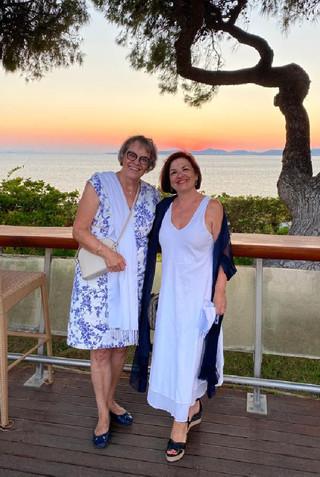 With former PACE President Liliane Maury Pasquier, at the Symi Symposium, in Athens, in July 2020