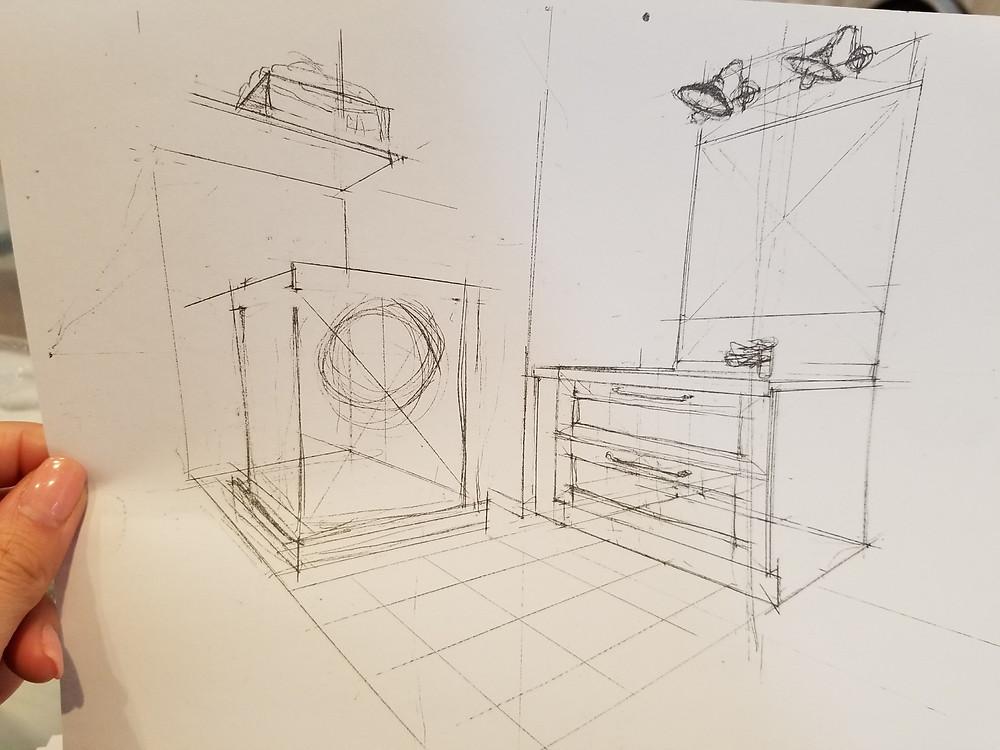 造作洗面化粧台です。