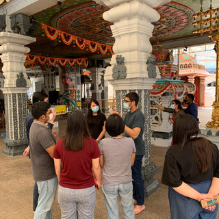 First SowCare Together physical visit at a Hindu temple prior the pre-heightened alert.