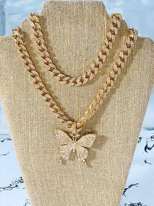 Butterfly cuban link+ cuban choker
