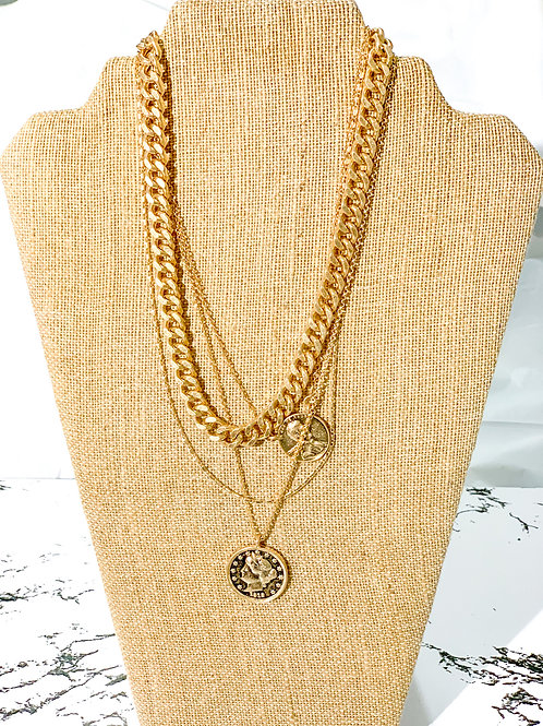 Cuban link + 3 small chains