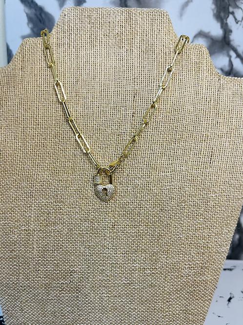 Locked heart chain