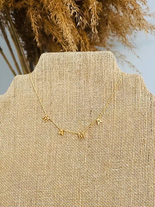 "Curb chain w/ 4 pendants ""MAMA"""