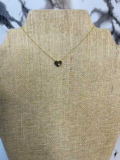 Small heart curb chain