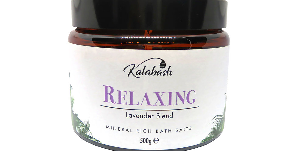 Mineral rich bath salts with lavender relaxing with coconut oil