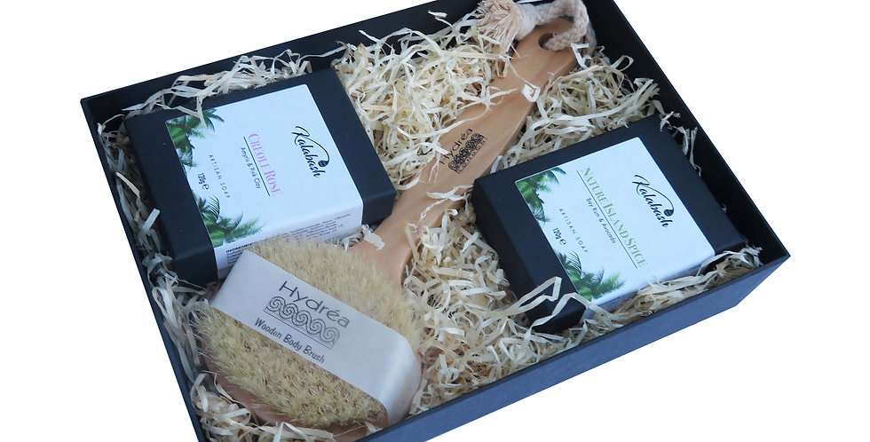 Artisan Soap Duo & Body Brush Gift Set