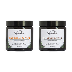 2 x 120ml soy wax essential oil candles