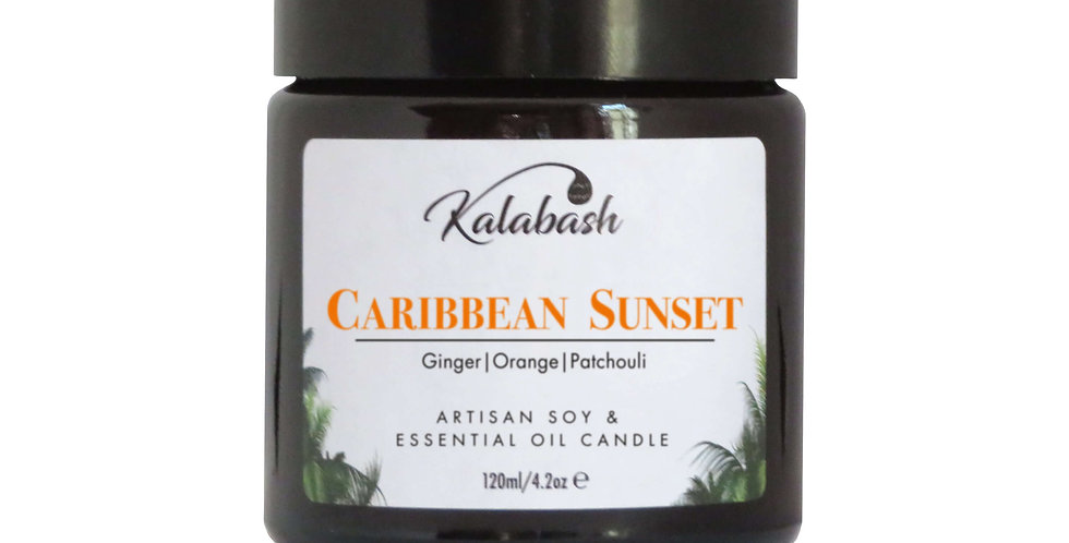 Caribbean Sunset - Kalabash Vegan Soy Wax & Essential Oil Candle