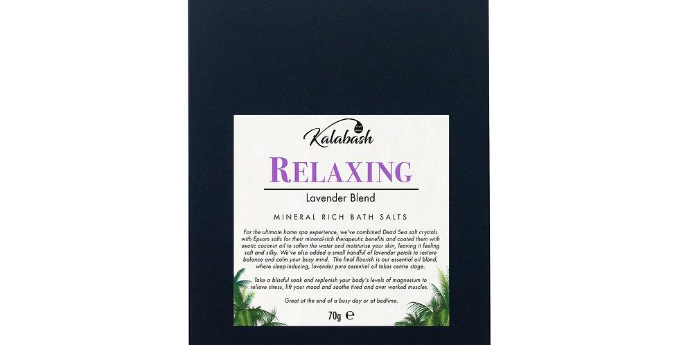 Kalabash bath salt sachet - small gift lavender bath salt sachet