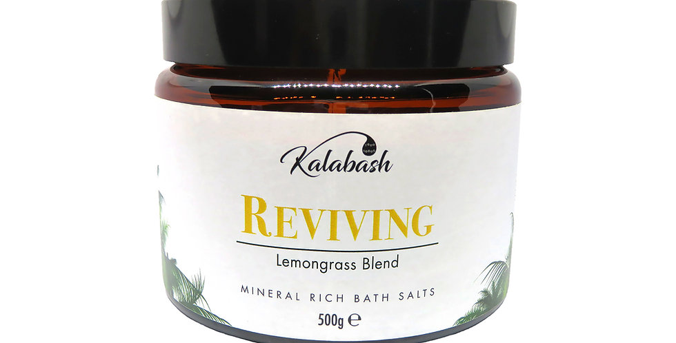 Kalabash Lemongrass bath salts Reviving with lemongrass and rosemary