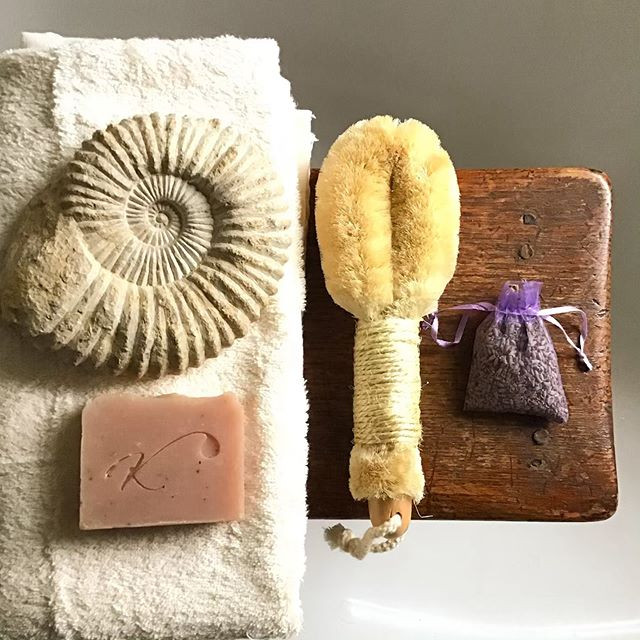 Kalabash products, soap Japanese bath brush and lavender