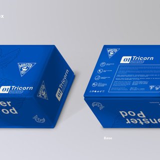 Monster Pod: Toy Packaging Box (Front x Back)