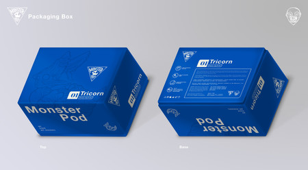 Monster Pod: Packaging Box (Front x Back)