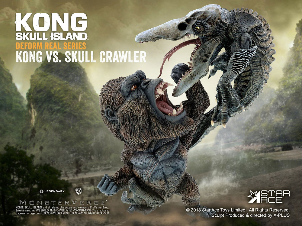 Official promotional product image of Star Ace Defo-Real Kong vs Skull Crawler