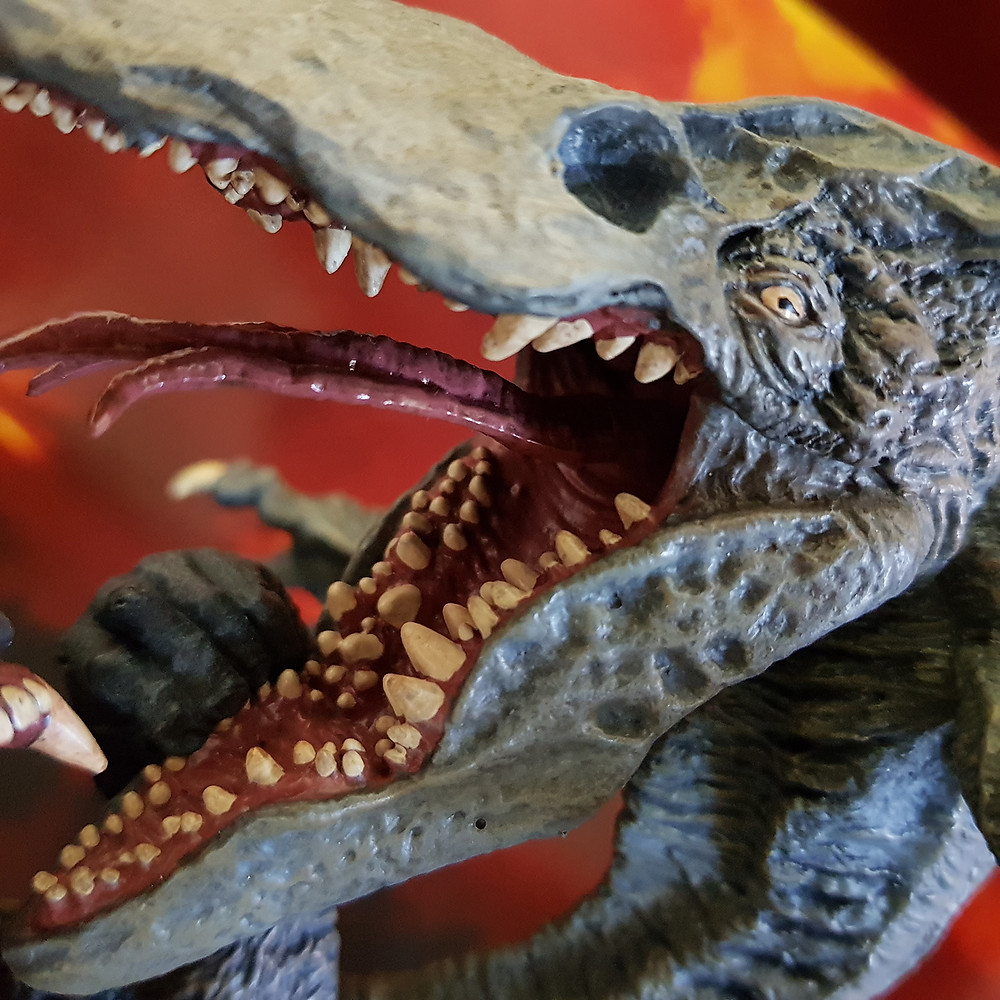 The head-sculpt of Skull Crawler