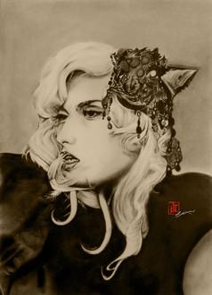 Rose Gaga (Charcoal Pencil)