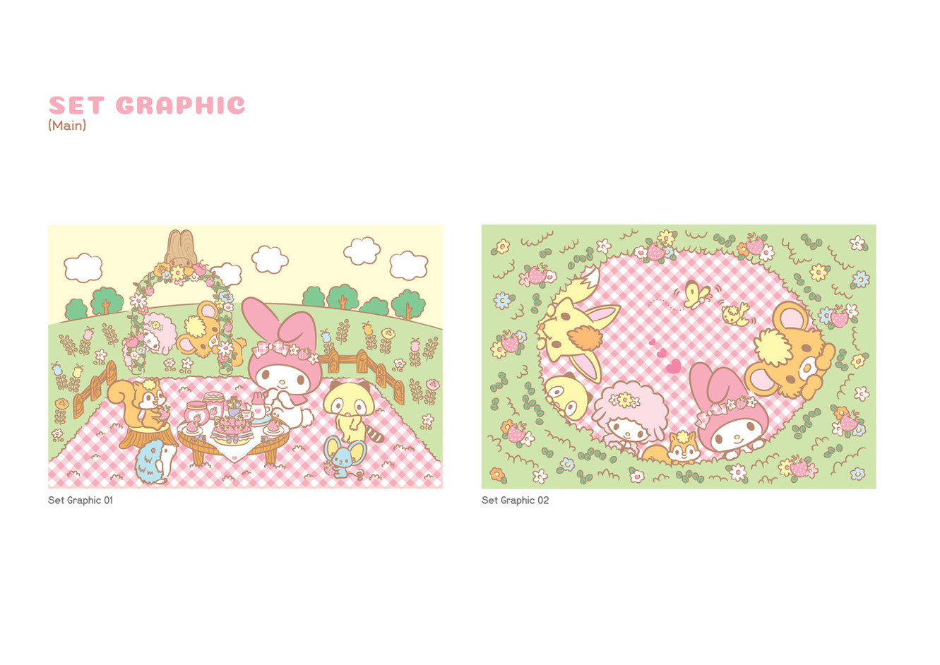 My Melody Café - Set Graphic