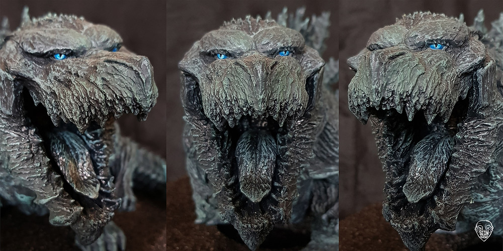 Head-sculpt of Defo-Real Godzilla Earth