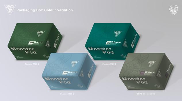 Monster Pod: Packaging Box Colour Variation