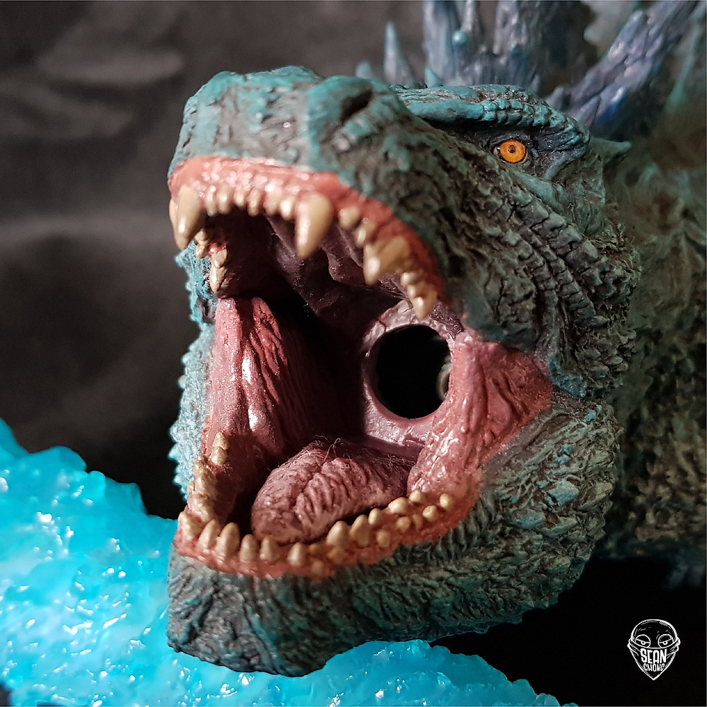The mouth cavity of Defo-Real Godzilla 2019