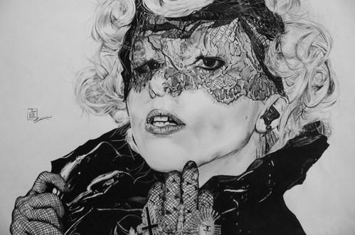 Gaga (Charcoal Pencil)