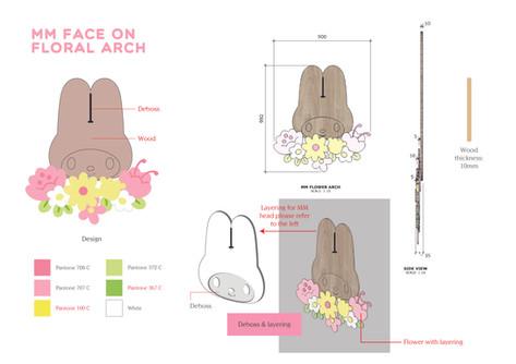 MM Flower Arc Graphic