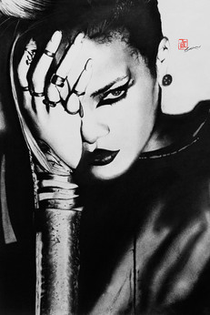 Rihanna (Charcoal Drawing)
