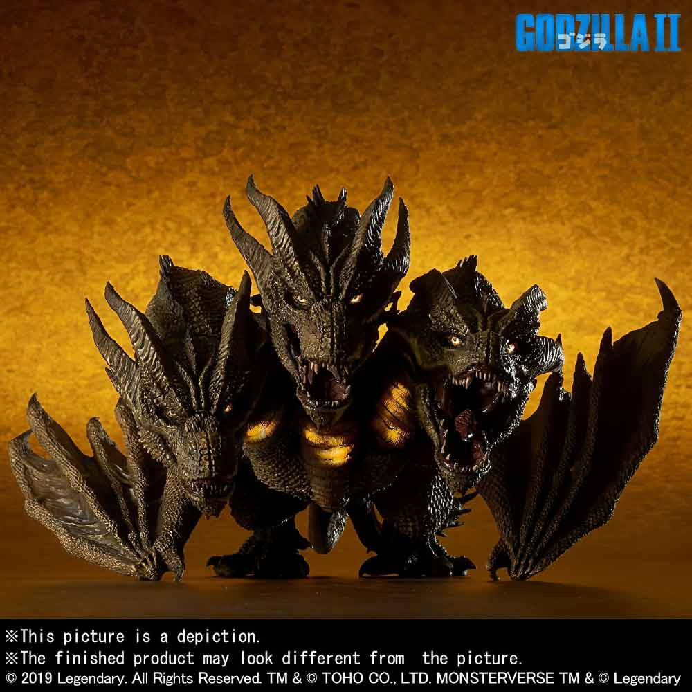 Defo-Real King Ghidorah (Ric Exclusive) with light-up feature.