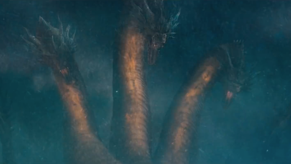 King Ghidorah about to fire up its signature gravity beam.