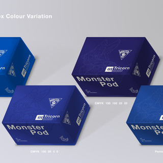 Monster Pod: Toy Packaging Box Colour Variation
