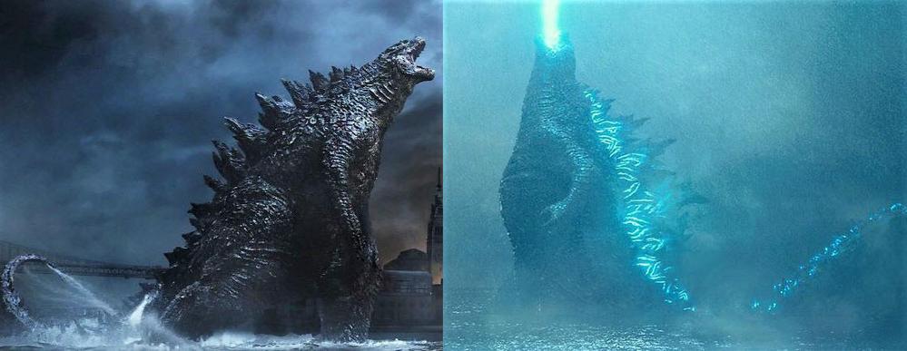 Legendary Godzilla 2014 and Godzilla 2019