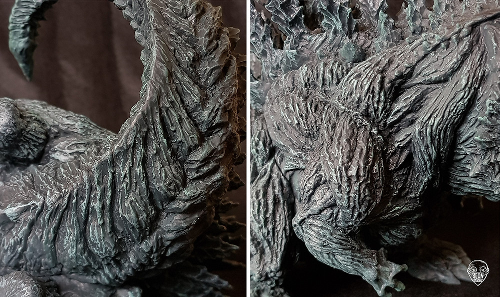 Texture of Defo-Real Godzilla Earth, tree barks, swirling tree trunks