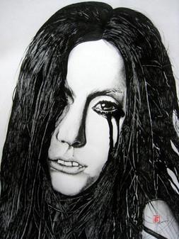Gaga Speechless (Pen & Ink)