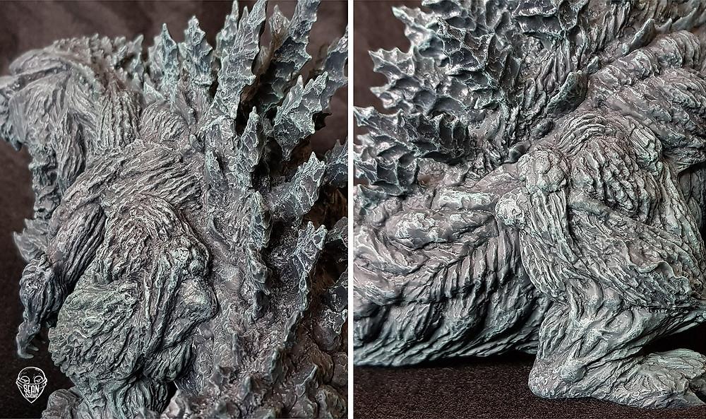 Texture of Defo-Real Godzilla Earth, tree barks, trees, plants, swirl