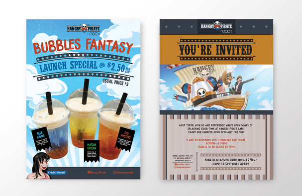 Hangry Pirate Café Posters