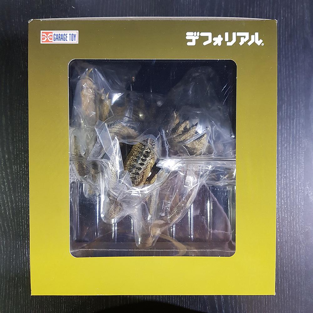The box packaging of Defo-Real King Ghidorah 2019.