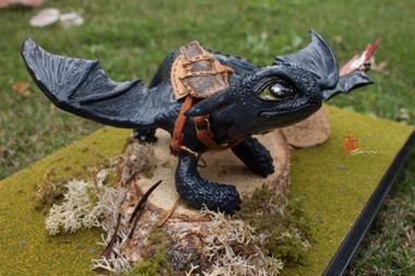 Toothless Sculpture 2015