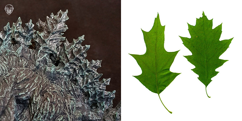 Dorsal plate of Defo-Real Godzilla Earth which resembles oak leaves