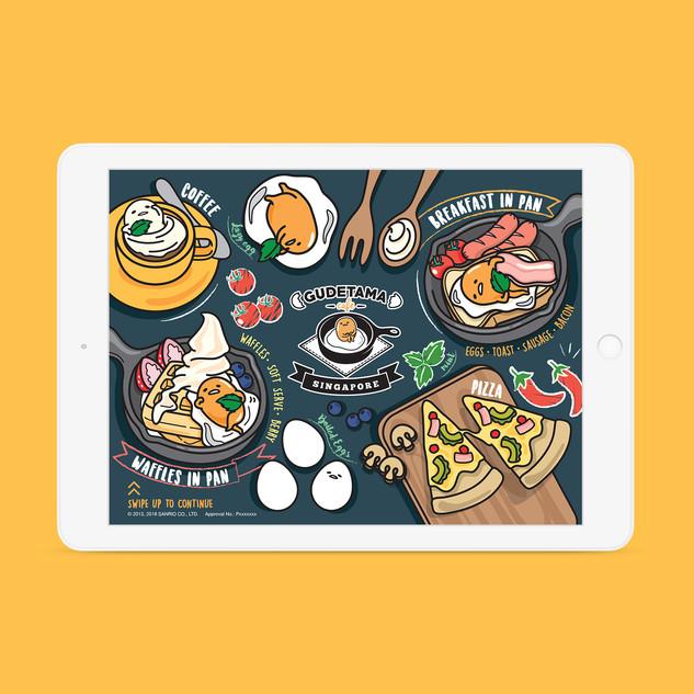 Gudetama Café e-menu Landing Page
