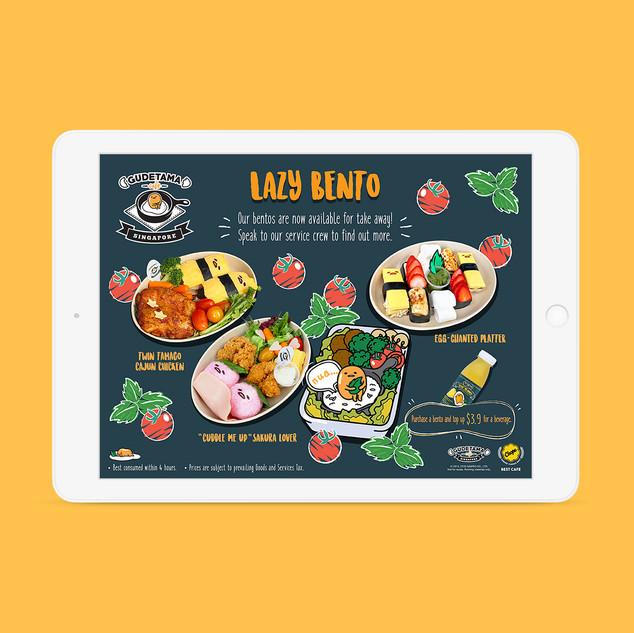 Gudetama Café e-menu Promo Page