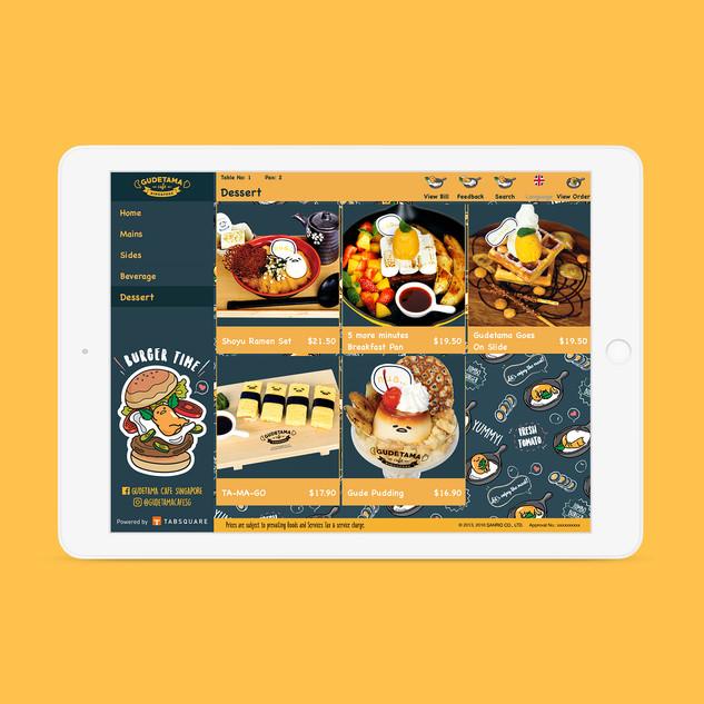 Gudetama Café e-menu Order Page