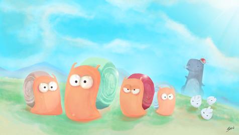 Game Asset: Snailey (Concept)