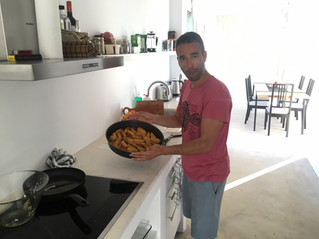 Cooking session at Villa Voukithro