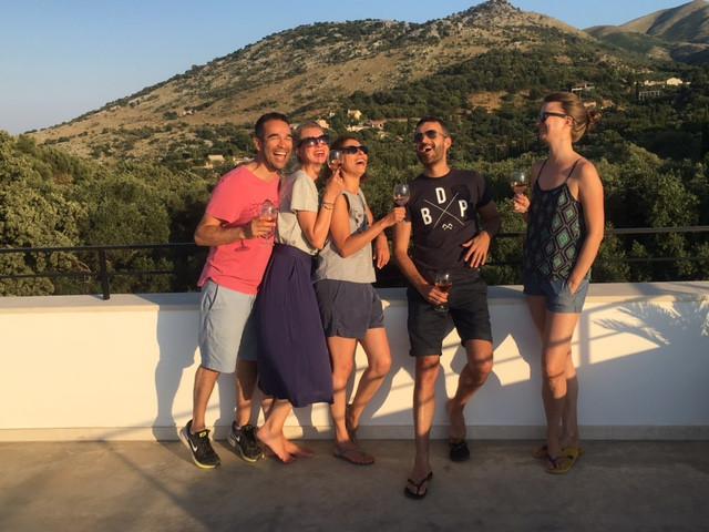sunset at villa voukithro, villa for rent in Corfu